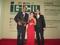 A profile photo of Jason Geh Jazz Band with the IGEM backdrop