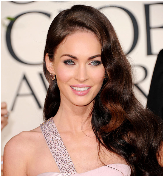 megan fox hair extensions. Megan Fox hair and makeup
