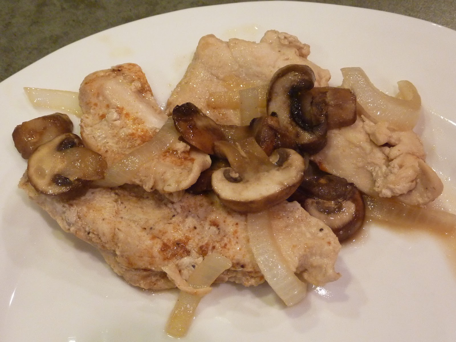LIFE IS GOOD: PAPRIKA CHICKEN WITH MUSHROOMS AND ONIONS