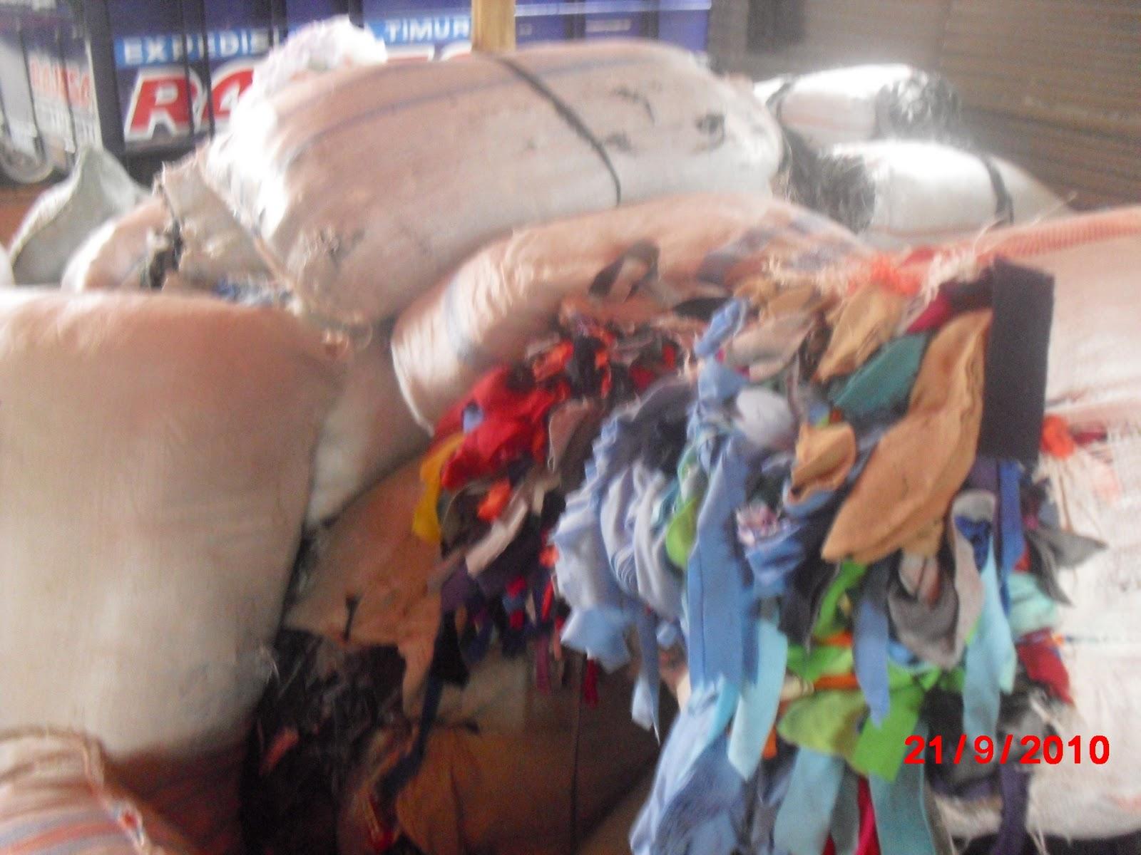 Usaha Limbah Garmen Konveksi Pabrik Seperti Potongan Blue Jeans Kain Lap Jahit Warna Dan Katun Putih Polos