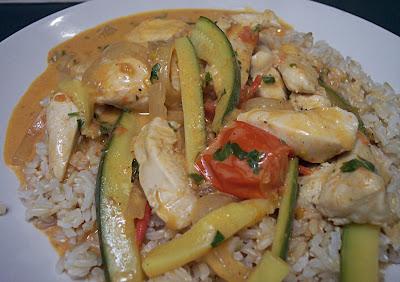 Thai Red Curry W/ Zucchini & Tomatoes