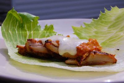 Foodie Fights Battle #11 – Chipotle/Goat Cheese: Chicken Adobo Lettuce Wraps W/ Chipotle Tomatillo Salsa & Goat Cheese Queso