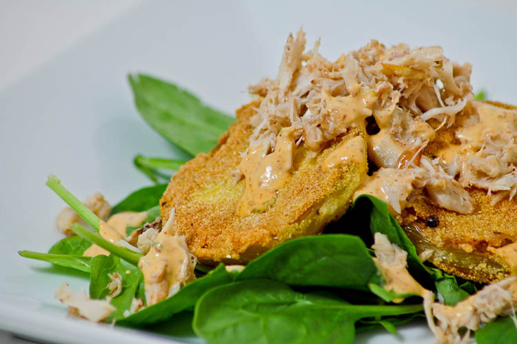 Feeding Andy: Fried Green Tomato Salad w/ Lump Crab ...