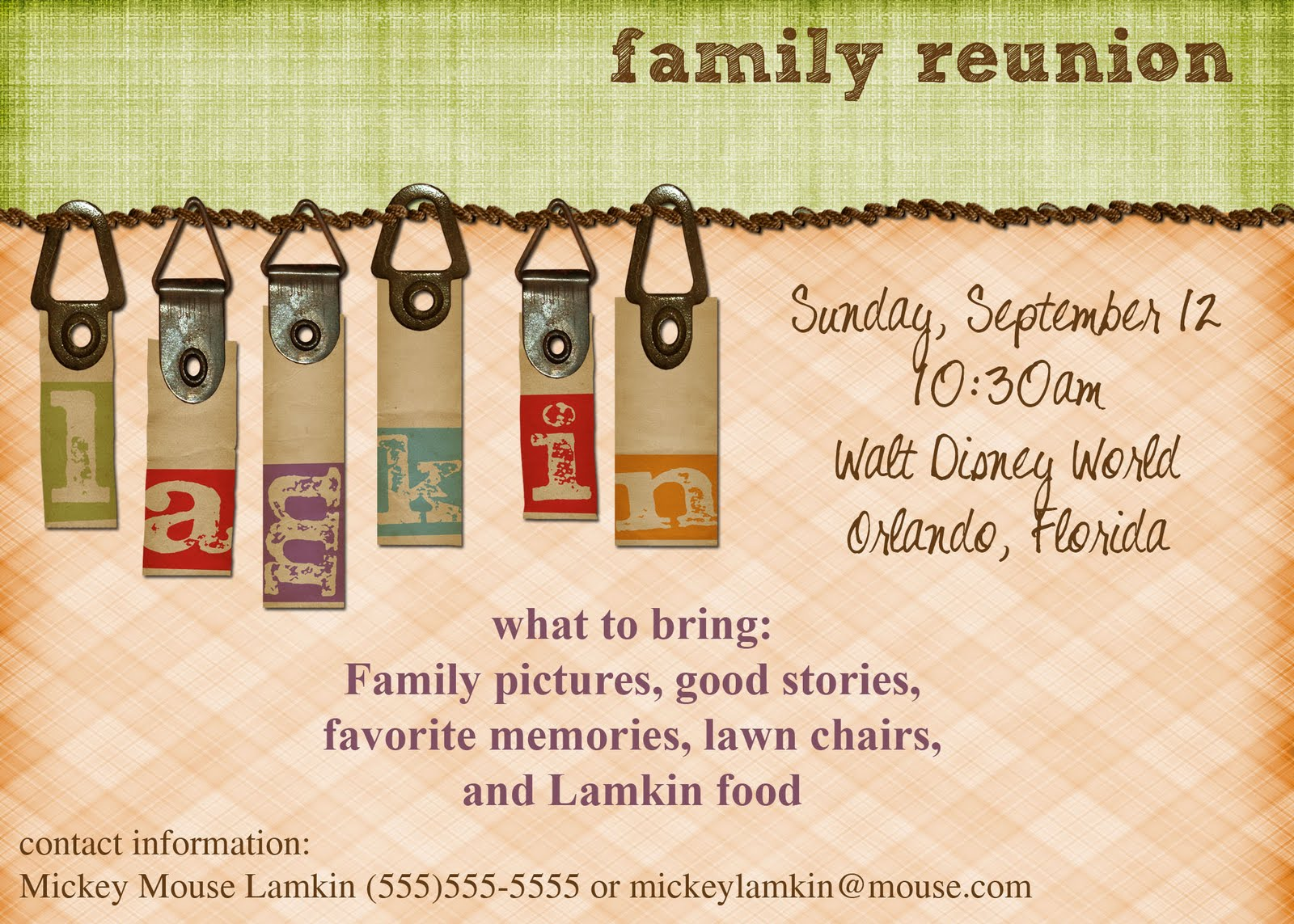 Family Reunion Invitation Letter for awesome invitation layout