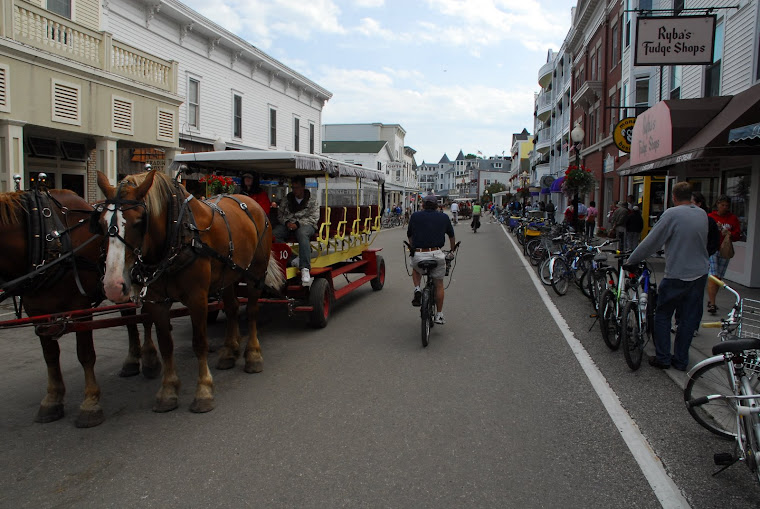 Only Horses and Bikes Allowed on Mackinac Island