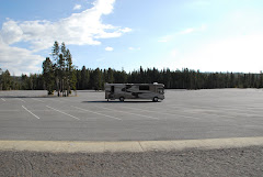 Parked in the Overflow Parking Lot at Old Faithful