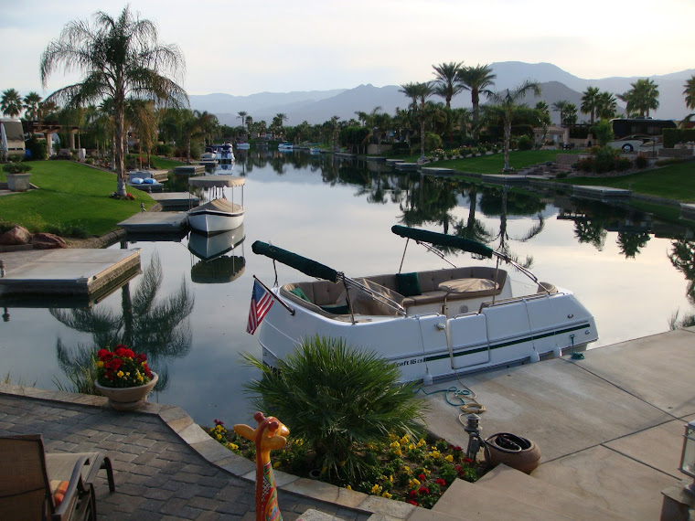 Boat Dock Comes With Each Water Lot in Indio