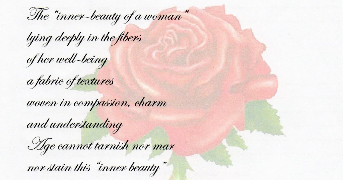 a collection of inspirational poems  the inner beauty of a woman