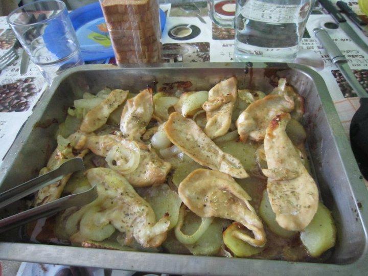 Las recetas de alba pechugas de pollo al horno con - Pechugas de pollo al horno con patatas ...