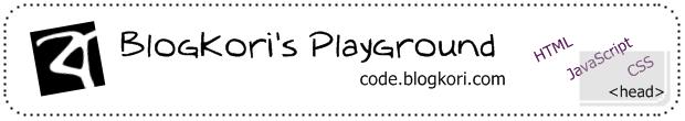 BlogKori's Playground