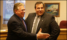 Mayor David Scapicchio and U.S. Attorney Christopher Christie