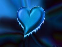 3d Blue Heart Wallpaper