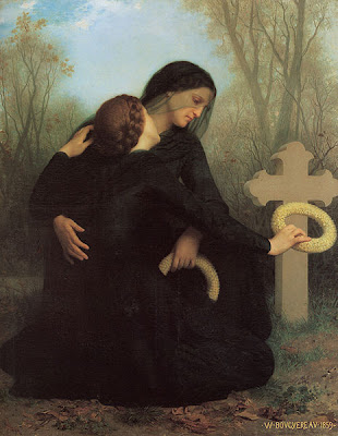 All Souls' Day painting by William Bouguereau