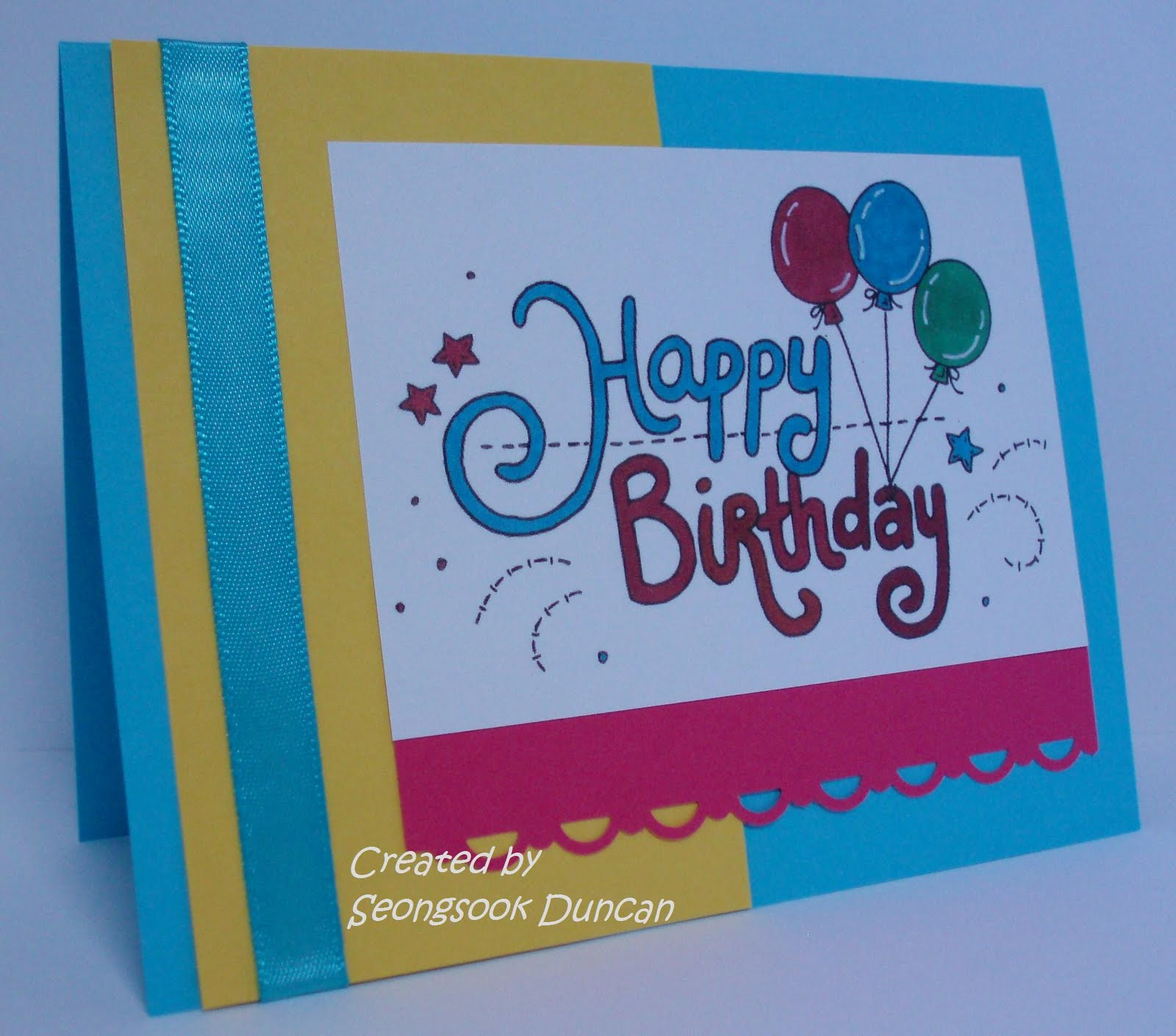 create with seongsook a stack happy birthday cards