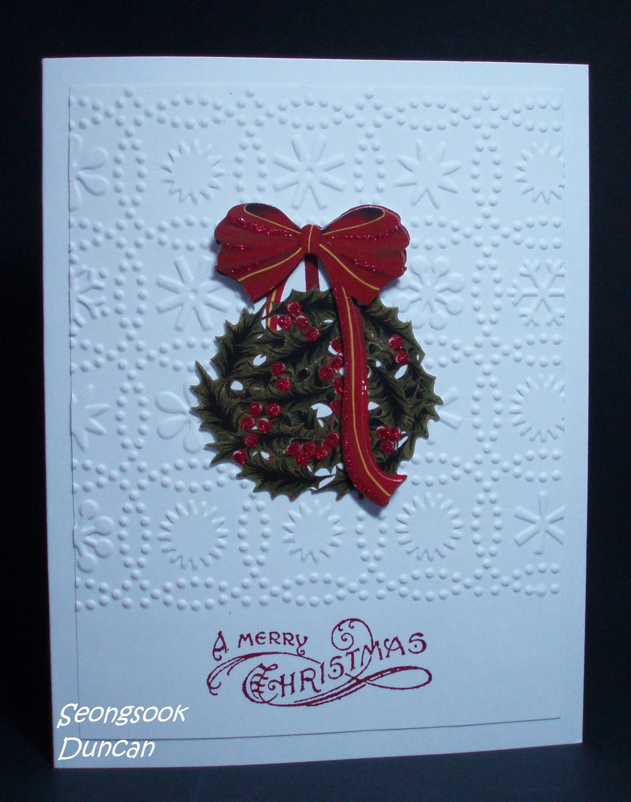Create with seongsook how to make christmas cards with 3d for 3d xmas cards to make