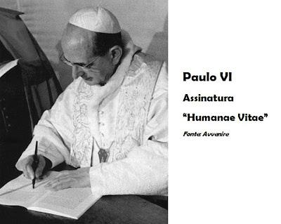 """Resultado de imagem para 40 anos da publicação da """"Humanae Vitae"""" de Paulo VI,"""