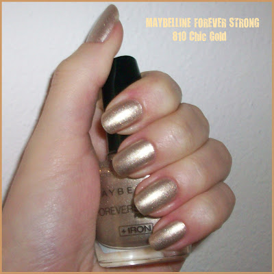 "Swatch: MAYBELLINE FOREVER STRONG No. 810 ""Chic Gold"""