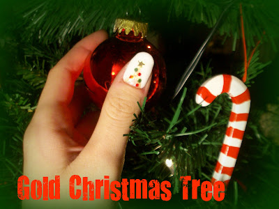 Christmas Nails | GOLD CHRISTMAS TREE