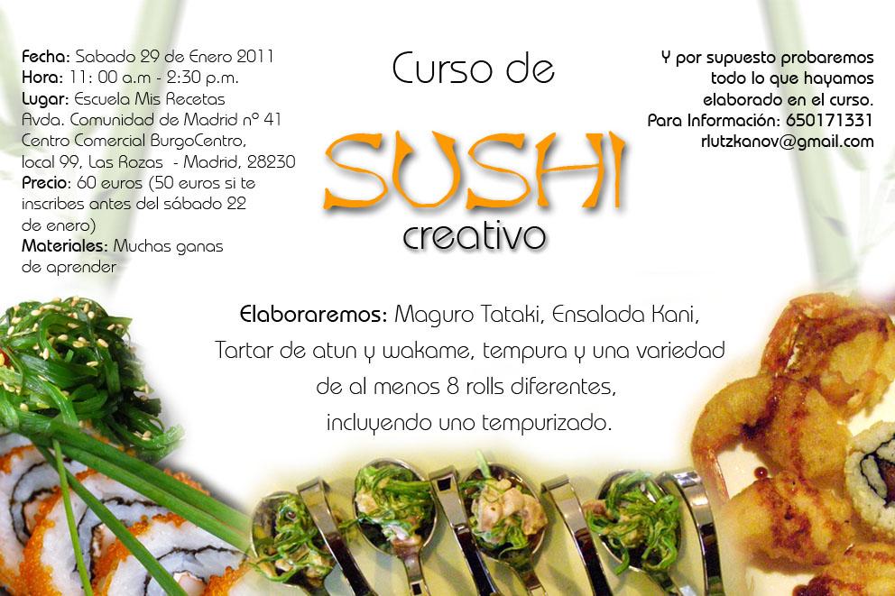 Gastronom a los naranjos segundo curso de sushi creativo for Curso de escaparatismo madrid
