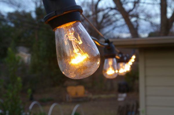 The grackle garden new string lights i relayed to him that ive never been able to find the nice commercial grade lights that i see in restaurants about town aloadofball Images