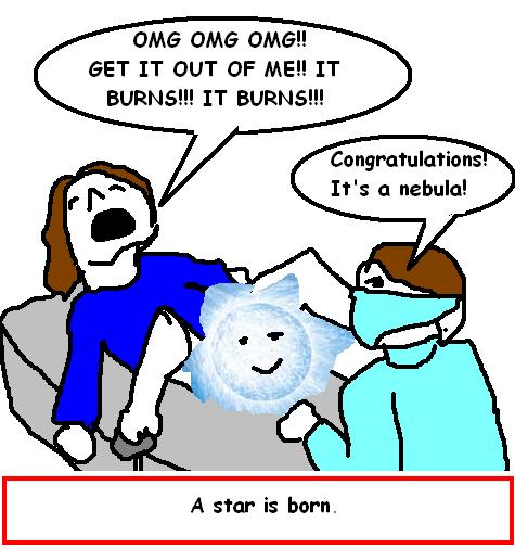 giving birth to a star