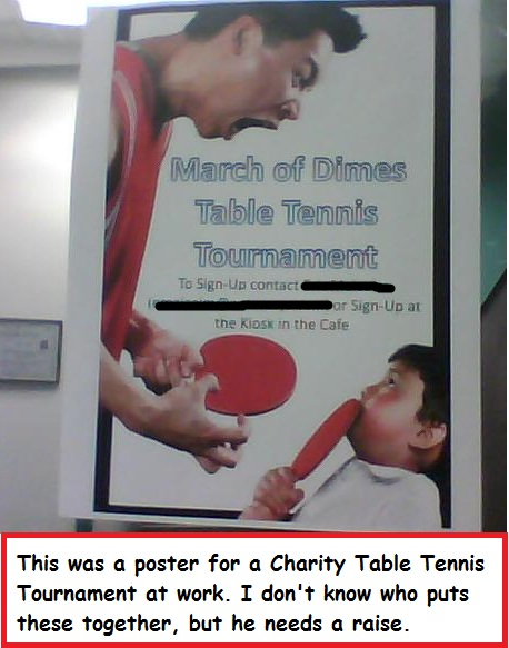 funny ping pong poster