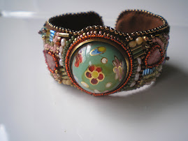 Vintage Button Cuff created especially for Kim Coe of QueenBEA Studios