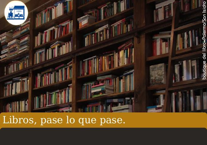 Libros, pase lo que pase.