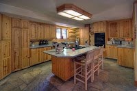 Image of kitchen in Alpine Meadows custom log home