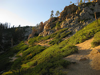 Image of the trail on 5 Lakes Trail Alpine Meadows, CA