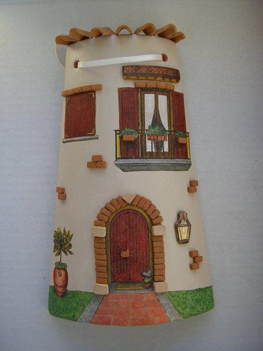 Tegole decorate a casetta naty art - Tegole decorate ...