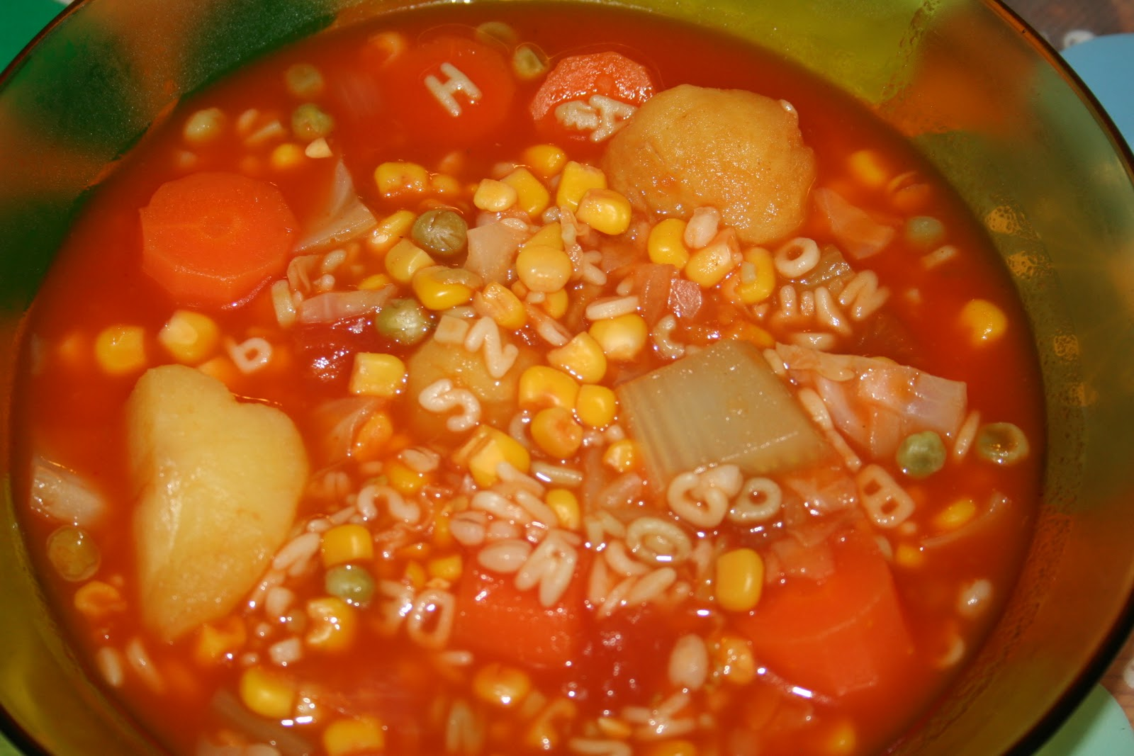 Our Slice of Spice: Homemade Alphabet Soup