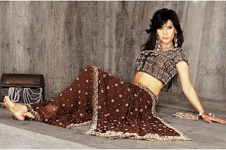 Anupama Verma for a Saree model shoot