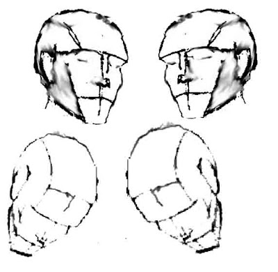 heads+at+various+angles The Helpful Art Teacher: MORE ON DRAWING FACES