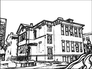 Line Art House : The helpful art teacher two point perspective