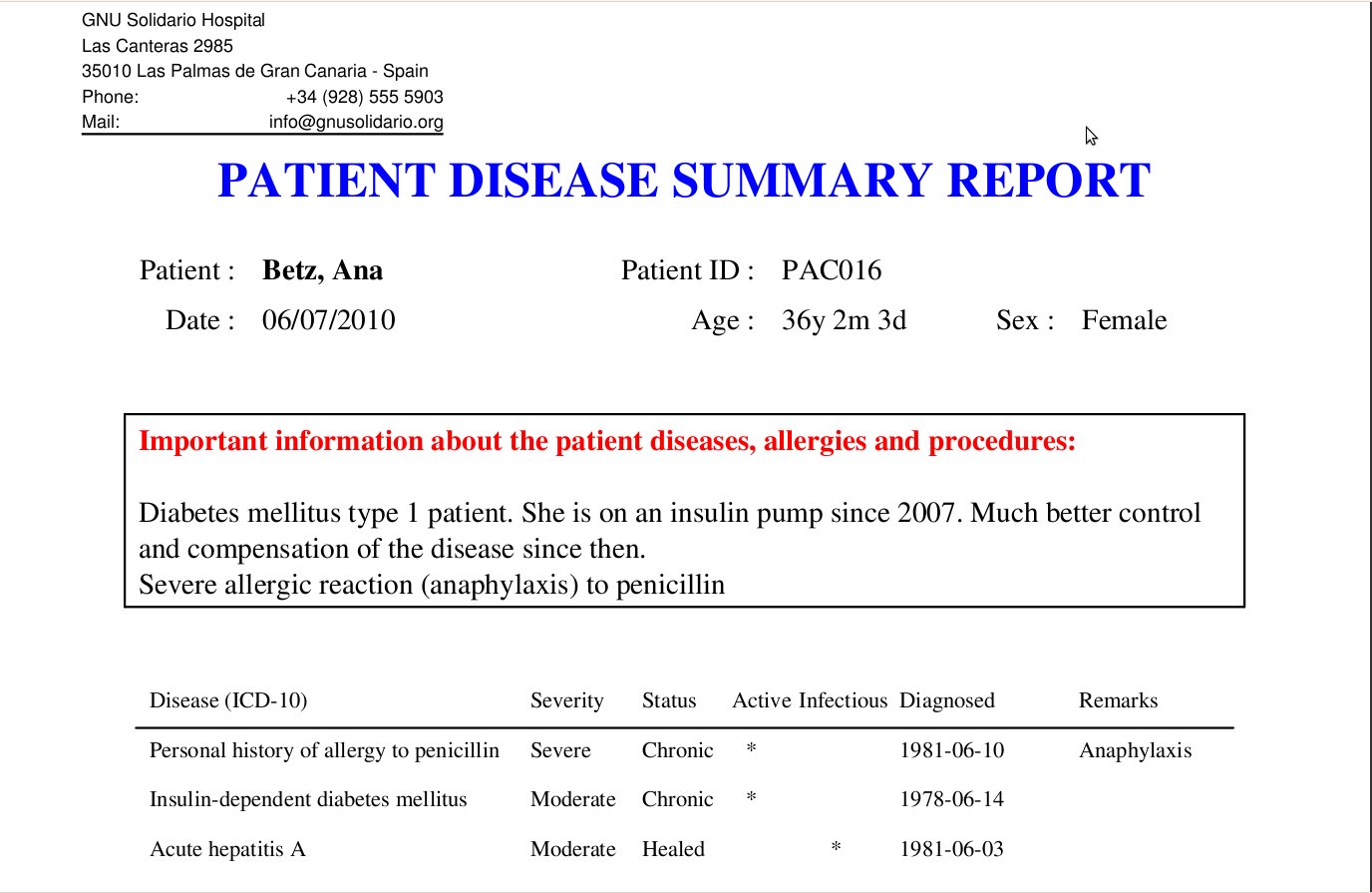 Release of medical 0050 for Dr test report template