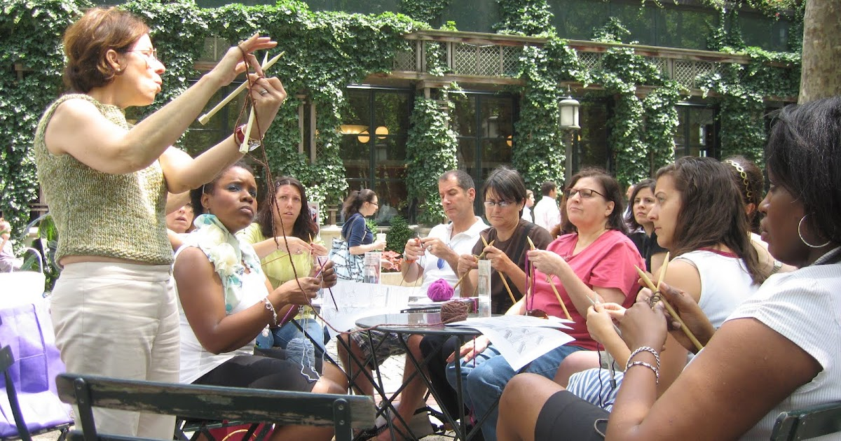 Crocheting Classes Nyc : Bryant Park Blog: Bryant Park Knits is Back