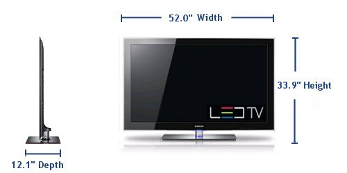 Tv led samsung un55b8000 widescreen 1920x1080 hdtv - Dimension tv 55 pouces ...