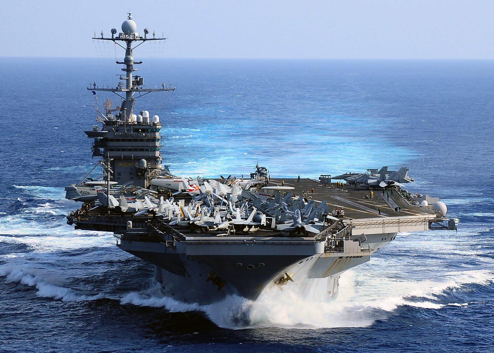 Portaviones estadounidense se burla de flota China
