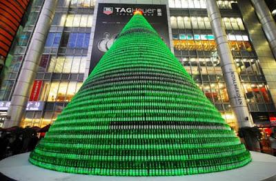 Pohon Natal Dari Botol Bir