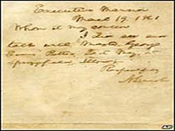 Surat Abraham Lincoln