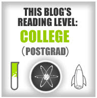 This Blog's Reading Level