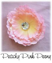"""4"""" Peachy Pink Peony"""