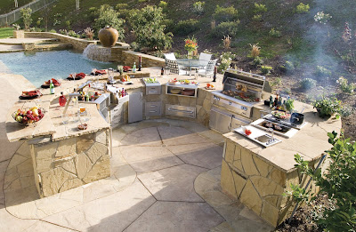 kitchen layouts: Outdoor Kitchen Enjoy Entertaining Friends Family