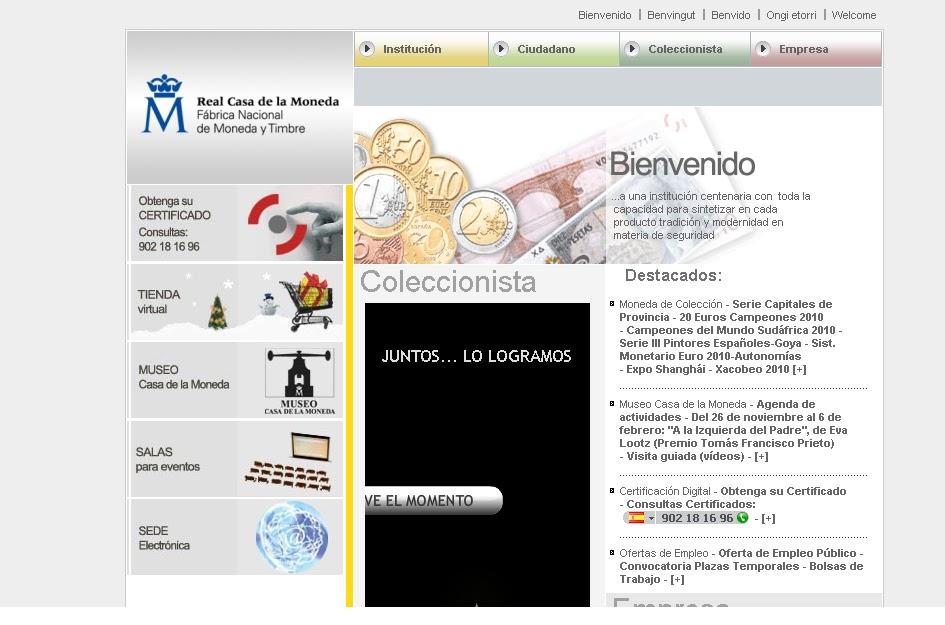 Obtener el certificado digital desde la web de ceres for Oficina certificado digital