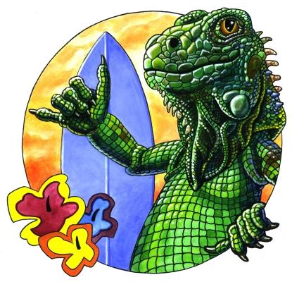 Iguana Surfera