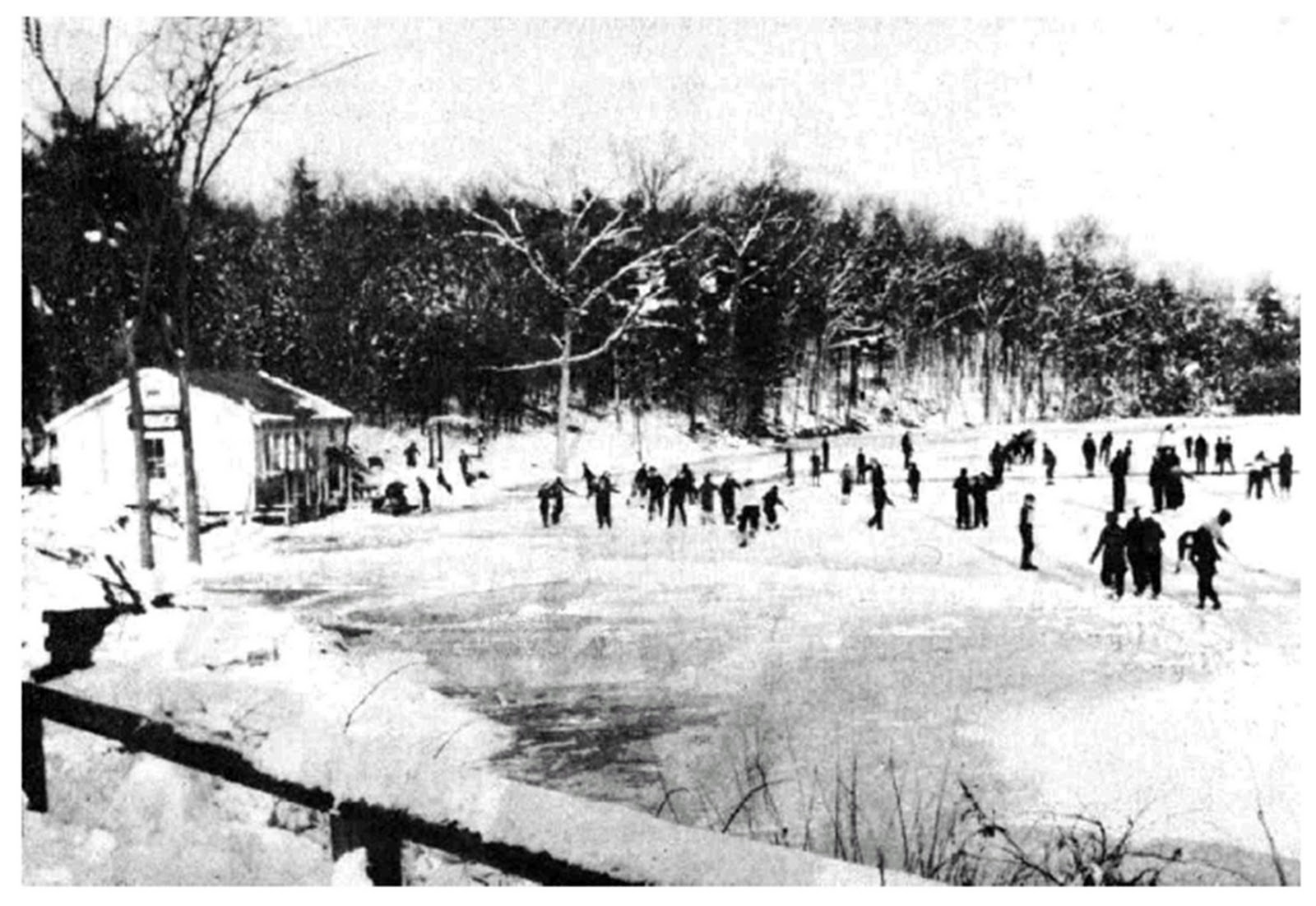 Pratt Farm Skating Pond, c1936, Massachusetts | Desperate ...