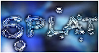 splat photoshop text effect