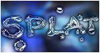 splat photoshop text effect