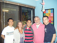 Vincent, Claire, Bean, Rob & Paul at Claire's place
